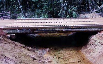 Réalisation de deux ponts en bois